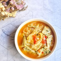 酸辣韭菜面片汤