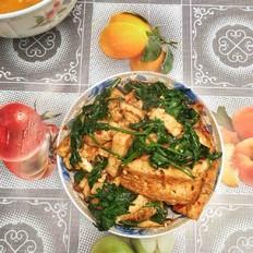 芹菜叶烧豆腐