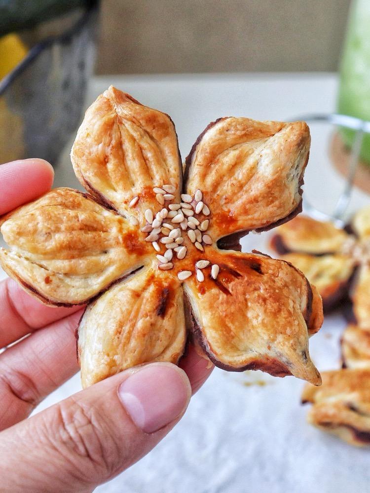 樱花酥(蛋挞皮版)