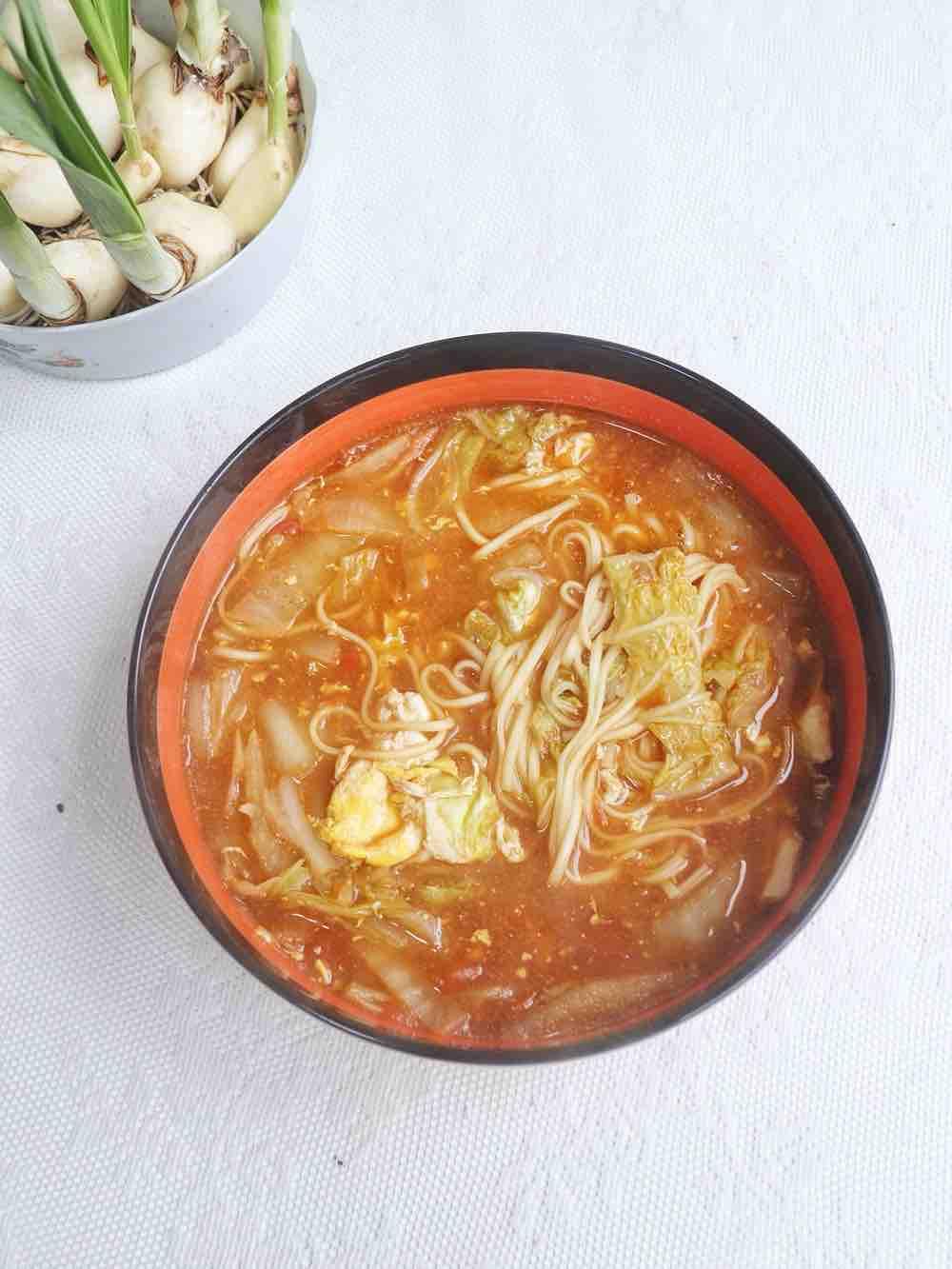 番茄白菜汤面