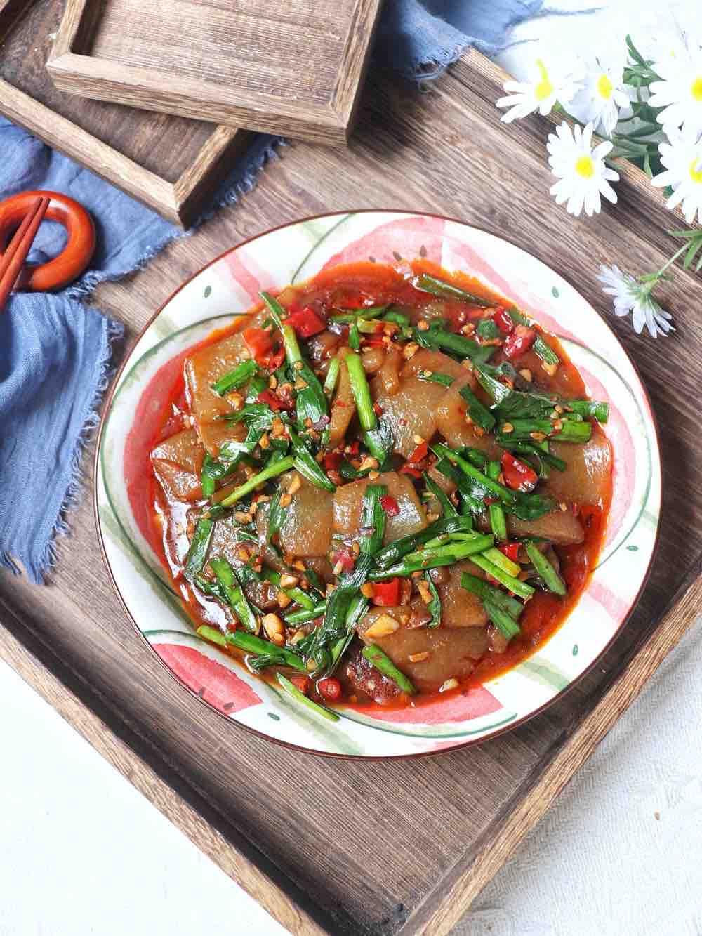 韭菜炒魔芋豆腐