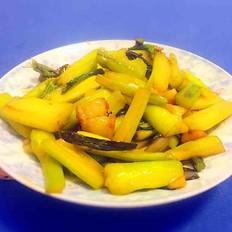 猪油渣红菜苔