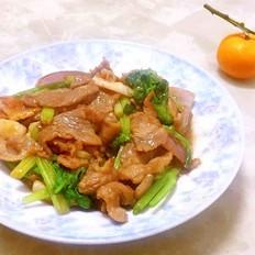 西芹嫩牛肉片