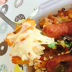土豆香肠焗饭