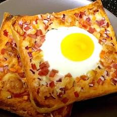 太阳蛋吐司披萨