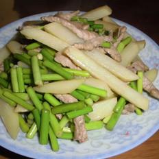 蒜苔土豆炒肉丝