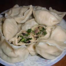 香菇韭菜水饺
