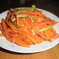 胡萝卜丝炒肉