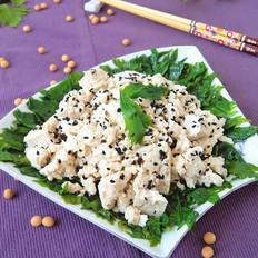 豆腐拌芹叶