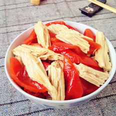 腐竹炒辣椒
