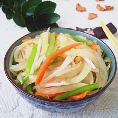 豆芽菜炒洋葱