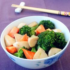 杏鲍菇烧西兰花