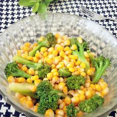 西兰花拌玉米