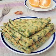 油菜叶鸡蛋饼