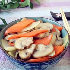 洋葱胡萝卜炒口蘑