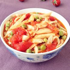 手撕杏鲍菇炒西红柿