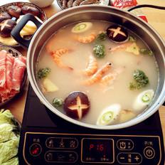 鲜虾火锅的做法