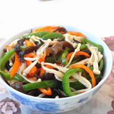 黑木耳金针菇炒辣椒