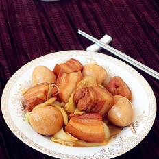 红烧肉熏鸡蛋烩大白菜