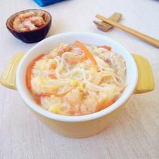 小米面挂面海米面汤