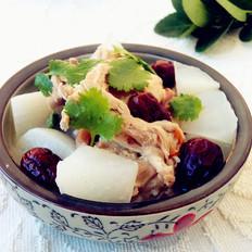 红枣白萝卜鸭骨汤