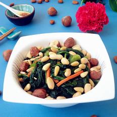 三仁拌菠菜