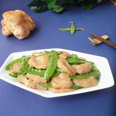 荷兰豆炒猴头菇