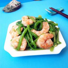 虾仁炒菠菜