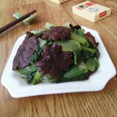 榛蘑烧小白菜