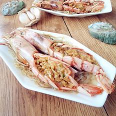 蒜蓉粉丝蒸红虾