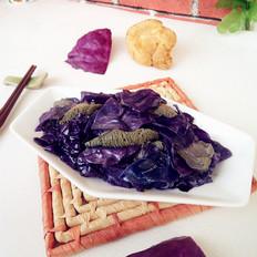 猴头菇烧紫甘蓝