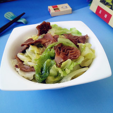 元蘑炒圆白菜