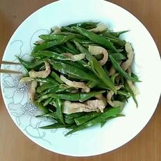 猪肉炒扁豆的做法