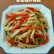 杏鲍菇炒辣椒