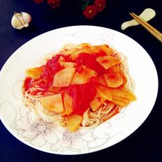 番茄土豆盖浇面