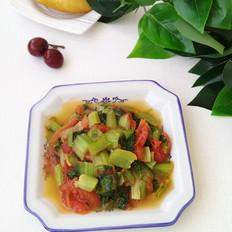 西红柿炒小白菜