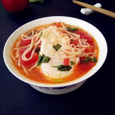 番茄鸡蛋面汤