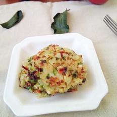 米饭时蔬鸡蛋饼