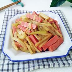 火腿腸炒白菜