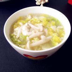 娃娃菜白玉菇汤