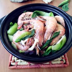 菌菇鲜虾煲
