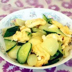 黄瓜洋葱炒鸡蛋