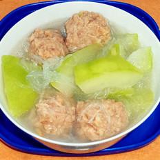 猪肉丸冬瓜粉丝汤