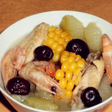 甜蝦雞翅冬瓜湯