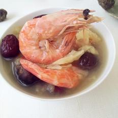 鲜虾香菇白菜汤