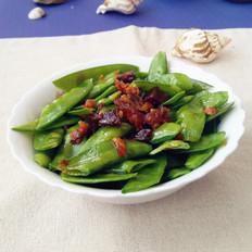 蝦仁花蛤醬拌荷蘭豆