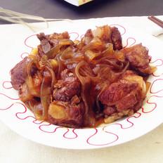 红薯粉条烧排骨