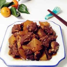 白萝卜烧牛肉
