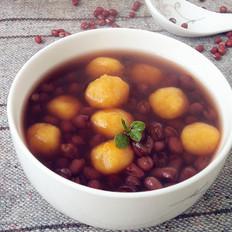 红豆南瓜圆子汤