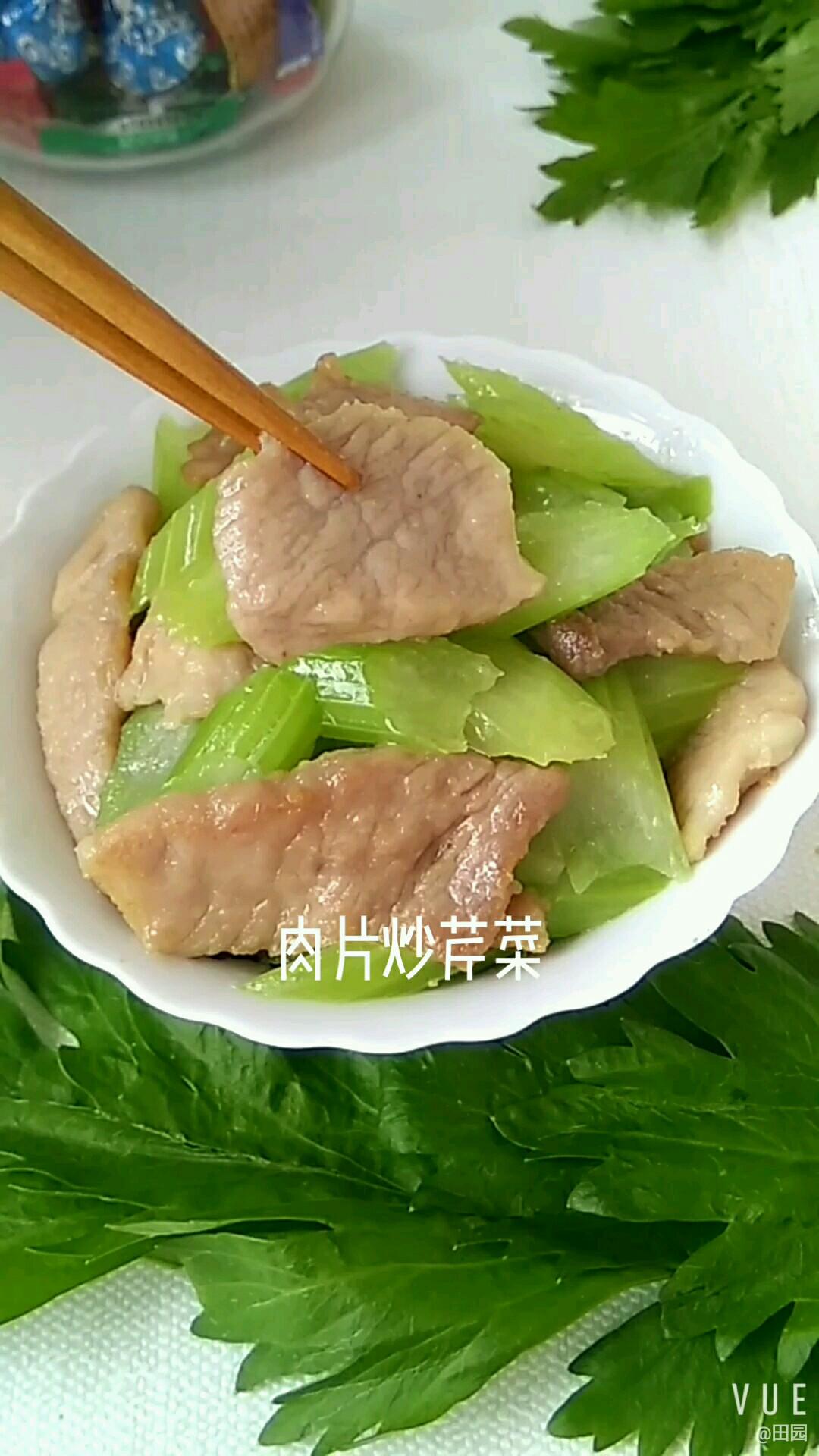 肉片炒芹菜